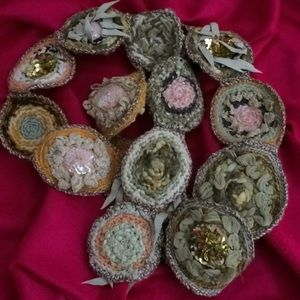Accessories - Embellished Circles Scarf